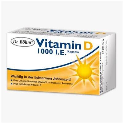 Dr. Böhm Vitamin D 1000 I.E. 60 Kapseln (60 ST) (Dr Vitamin D)