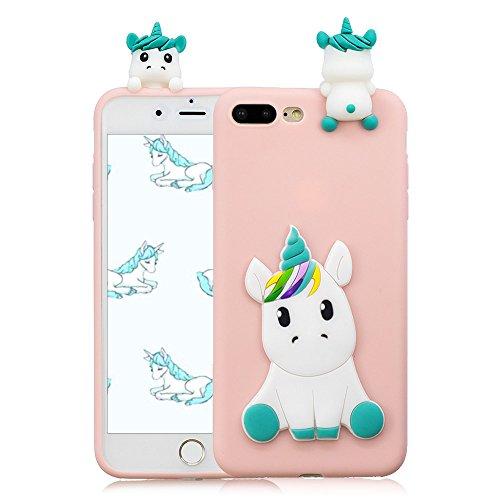 Funda iPhone 7 Plus/iPhone 8 Plus Unicornio 3D Tridimensional