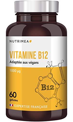 VITAMINE B12 VEGAN 1000 µg  FABRICATION FRANÇAISE  60 gélules végétales  cyanocobalamine