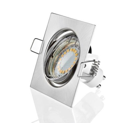 Sweet Led Spot LED GU10 230 V, 5 W, orientable 400 lm Eckig-Chrom gebürstet - Kaltweiß