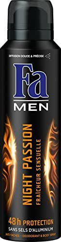 Fa Men Déodorant Night Passion Fraîcheur Sensuelle Aérosol 150 ml - Lot de 3