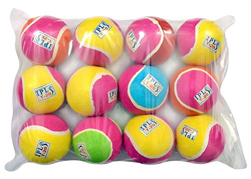 JAINA Multicolor Lightweight IPL T20 Cricket Tennis Ball (Pack of 12) Purchase Product from JAINA INTERNATIONALS. BE Aware: Some Other Sellers are Selling Products.
