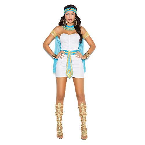 NiQiShangMao Damen Weiß Griechische Göttin Kostüm Frauen Sexy Arabische Prinz Kostüm Weibliche Ägyptische Kostüm für Halloween Party Kleid (Griechische Göttin Kostüm Mann)