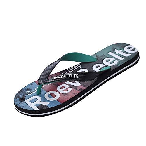 80a3d974aa396 LIN Liquidation Tongs Sandales Hommes Été Plat Anti Dérapage Chaussons Shoes  Flats Massage de