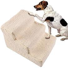 Haodene Escaleras para Mascotas 3 Pasos Easy Climb Escaleras para Mascotas Escalera para Perro De Espuma