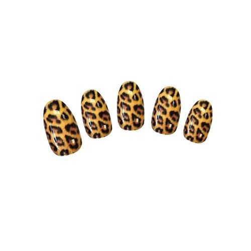 Davidsonne Tattoo Wasser Tattoos Sticker Nagel Tips Aufkleber Leopard Motiv Nail Art Packs Decal Wrap Tiger Leopard Print Animal Water Transfer Sticker Fashion Xmas Gift #001