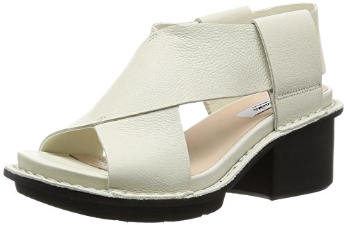 Clarks Hexton Gala, Damen Slingback Sandalen, Weiß (Off White Leather), 39.5 EU (6 Damen UK)