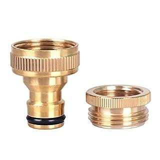 GEZICHTA 3/10,2cm auf 1/5,1cm Zoll Messing Garden Wasserhahn Wasser Schlauch Wasserhahn-Anschluss Fitting