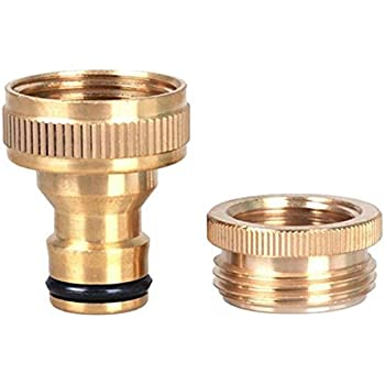 Brass 1/ 2 Inch to 3/ 4 Inch Hose Pipe Fittings Quick Connect, Hose ...