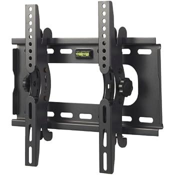 "VonHaus Premium LCD, LED and Plasma Slim TV Wall Tilt Bracket Black Fits All Models - (23 - 37""), Super-Strength Load Capacity 75Kg, 15 Degree Up/Down Tilt Mechanism, Includes Spirit Level"