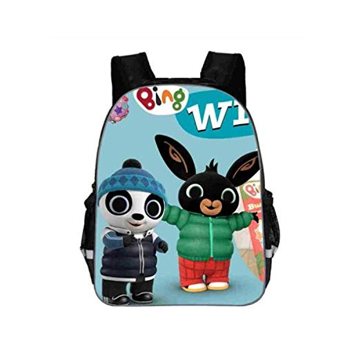 Schultasche, Bing Bunny Print Backpack School Boys Girls Children Book Bag Cartoon Baby Girl Backpack Cartable Enfant Kindergarten Bag Champagne -