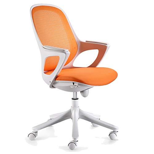 KS-Furniture Bürostuhl MAGLO Orange Stoff Schreibtischstuhl Drehstuhl Bürosessel mit Armlehnen