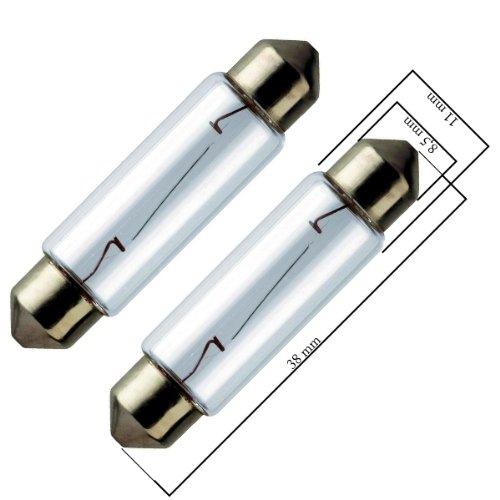 58111 - halogène Festoon Lumière ampoule éclairage de plaque d'immatriculation éclairage intérieur C5W 12V 10W SV85 11x38mm
