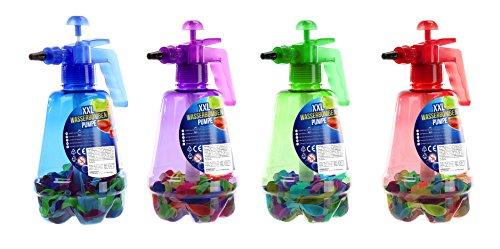 1 x riesige Wasserbomben-Pumpe XXL inkl.100 Wasserbomben, Luftballons