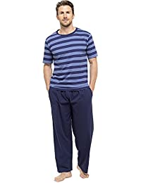 MENS JERSEY STRIPED TEE AND BOTTOM PJ SET