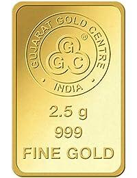 GGC Gujarat Gold Centre 24k (999) Yellow Gold 2.5 Gram Mint Bar