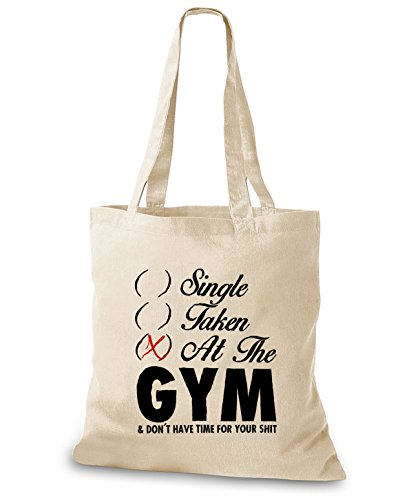 StyloBags Jutebeutel / Tasche Single Taken At The Gym Natur