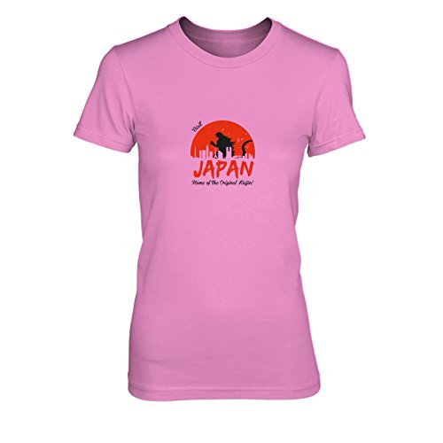 Visit Japan - Damen T-Shirt, Größe: XL, Farbe: pink (Godzilla Collection Blu-ray)
