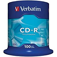 Verbatim 43411 CD-R 52 x 100-pack Optical Media