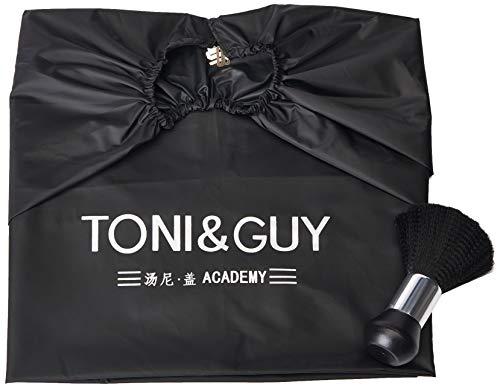 Capa de nailon profesional para salón de belleza con hebilla metálica ajustable y plumero, capa extra larga liviana SourceTon (55 pulgadas x 47 pulgadas) y cepillo para polvo en el cuello