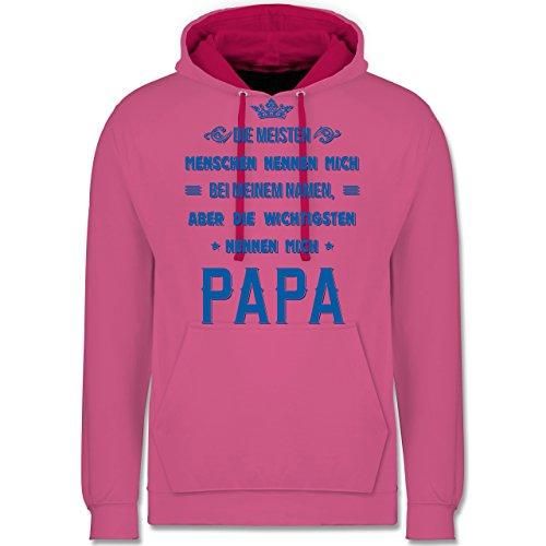 Vatertag - Die Wichtigsten nennen mich Papa - Kontrast Hoodie Rosa/Fuchsia