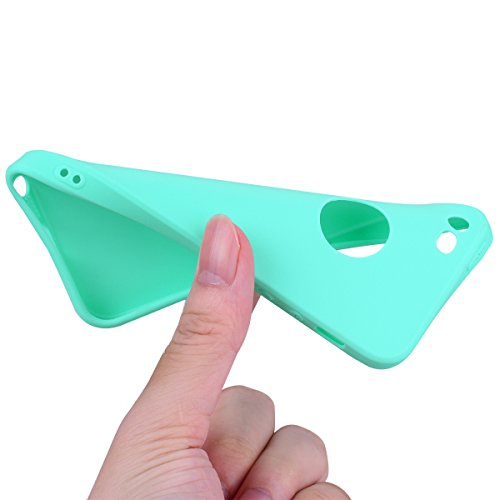 iPhone 5/5S/SE (4.0 Zoll) Hülle , Kcdream Soft Handy Cover Ultra Slim Silikon Rückseite Schutzhülle Etui Handy-Tasche Back-Cover Bumper TPU Gummihülle stoßfeste Schutz-Cover Tasche mimt einzigartiges  Blu