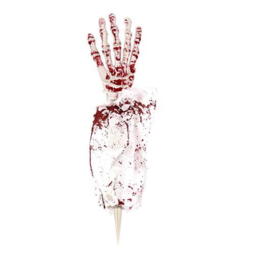 BESTOYARD Skelett Hand Knochen Harror Stimulation Geist Hand mit Tuch für Halloween heikle Prop