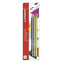 Graphite Pencil - STABILO Trio 2B Petrol/Orange/Green
