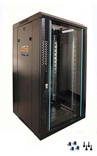 27U server cabinet 600(W) x 600(D) X1400(H) porta anteriore in vetro