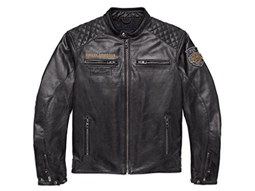 Harley-Davidson Men's 115th Anniversary Eagle Leder Jacke, 98006-18EM, M (Davidson Mens Harley Eagle)