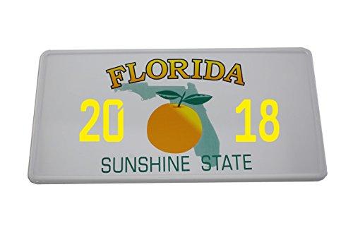 US Auto Kennzeichen STATE LICENSE PLATE Schilder USA Florida mit Wunschprägung (gelb)