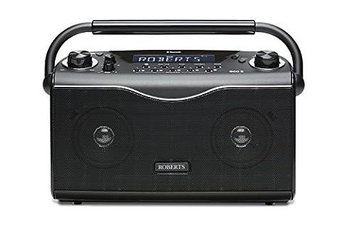 Roberts Radio ecoLogic4BT Radio portable DAB+/FM avec Bluetooth Noir
