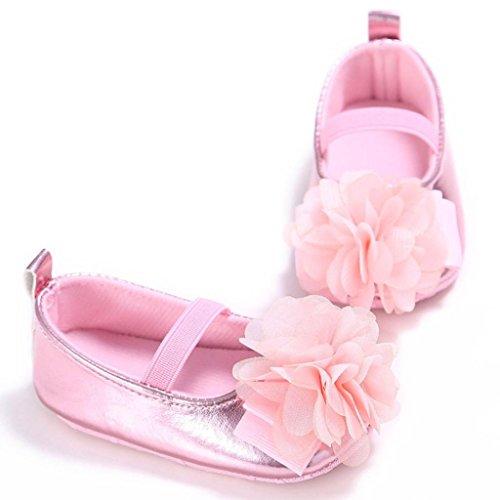BZLine® Baby weichen Sohle Krippe Kleinkind Neugeborenes Anti-Rutsch Schuhe Pink