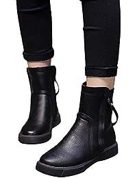 tohole Damen Winterstiefel Worker Boots Gefüttert Stiefeletten Winter Warme  Schnür Martin Stiefel Schuhe… 8320e27583
