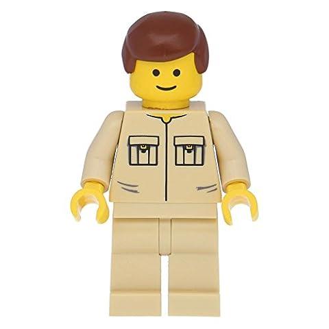 LEGO® Shirt with 2 Pockets No Collar, Tan Legs, Reddish Brown Male Hair
