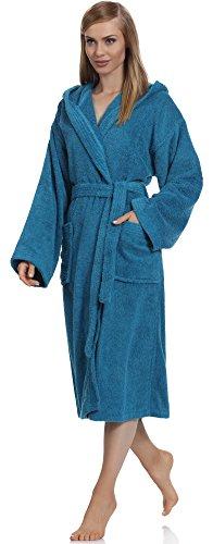 Ladeheid Damen Frottee Bademantel aus 100% Baumwolle LA40-102 Jeans (D03)