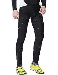 4ucycling khelos para correr pantalones para hombre ligero a prueba de viento Sport mallas de largo, otoño, unisex, color  - negro, tamaño Gewicht:80-85KG Größe:Über 185CM XXL