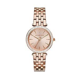 Michael Kors MK3366 - Reloj de Cuarzo con Correa de Acero Inoxidable para Mujer, Color Rosa de MJC1U