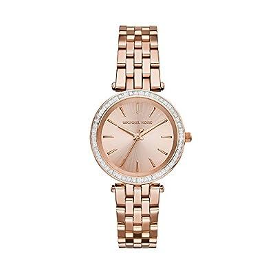 Michael Kors MK3366 - Reloj de Cuarzo con Correa de Acero Inoxidable para Mujer, Color Rosa