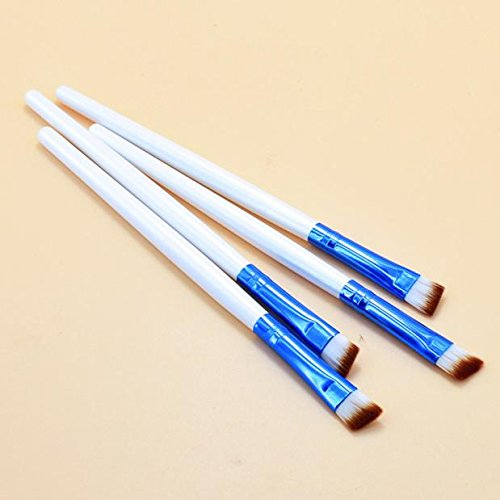 Pinceau De Maquillage Pour Sourcils 1221# (Tube Blanc, Manche Bleu) Rawdah Eyebrow Cosmetic Makeup Brush