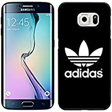 Samsung Galaxy S6 Edge Phone Móvil Hipster Adidas Originals Brand Logo Picture, Cute Silicone Funda, Famous Samsung Galaxy S6 Edge móvil for Mujer/Hombre Popular