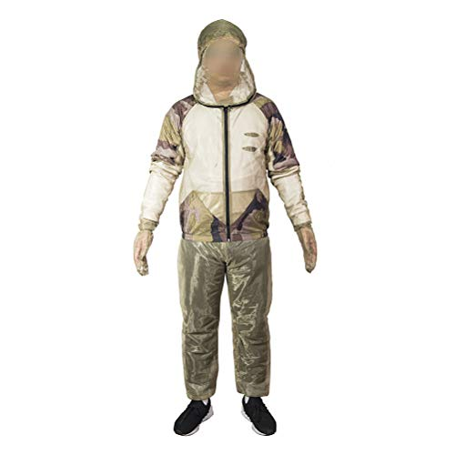 LIOOBO Bug Jacke Hosen Mesh Mit Kapuze Anti Moskito Proof Anzüge Kleidung für Outdoor Angeln Jagd Imkerei Camping (L/XL)