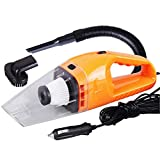 Globents 12V/120W Portable Car Vacuum Cleaner Wet and Dry Dual Use Super Suction Hand-Held Car Cleaner
