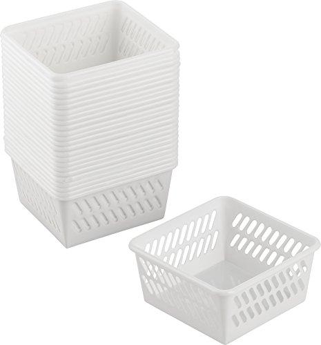 Kigima Haushaltskorb Allzweckkorb Nano 25er Set 9,5x9,5x4,9 cm Weiß