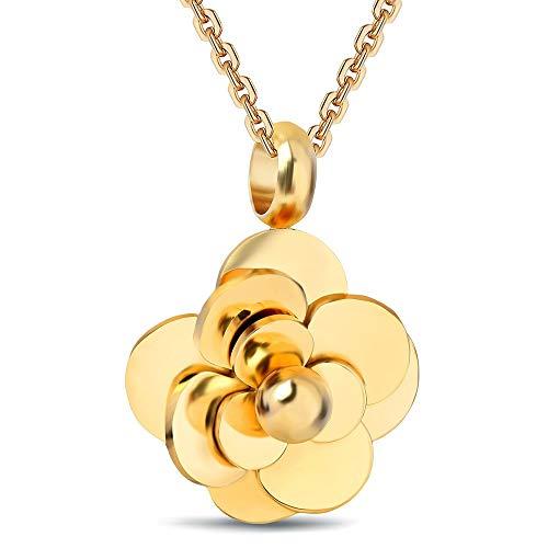 NSXLSCL Damenhalskette Mode Floralen Form Schlüsselbein Goldene Kette Halskette, Für Freundin Geburtstag Valentinstag Vorhanden