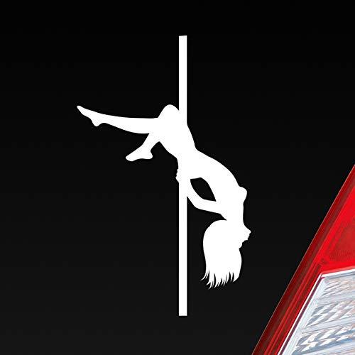 Auto Aufkleber in deiner Wunschfarbe Sexy Girl Mädchen Tanzen Poledance Strip GoGo Pin Up 12x7 cm Autoaufkleber Sticker