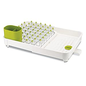 Joseph Joseph Extend Expandable Dish Rack, Metal, White/Green