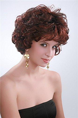 kalyss Women's Short Curly Mix Red Hair wig by (Themen Wasser Partei Kostüm)