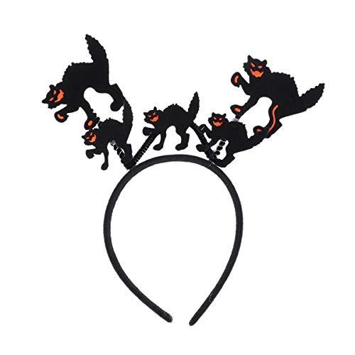 Bunny Kostüm Kit Black - Amosfun Halloween Stirnband Schwarze Katze Stirnband Neuheit Halloween Haarband Haarband Halloween Foto Requisiten Kopfbedeckung Halloween Karneval Cosplay Kostümzubehör