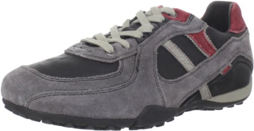 UOMO SNAKE U2407A04322C0047, Herren Fashion Sneakers, Grau (DK GREY/RED C0047), EU 41 Geox